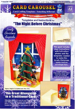 Night Before Christmas Greeting Card Template From Card Carousel